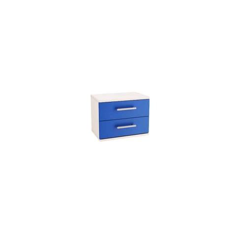 Нощен шкаф Ивко бяло и синьо